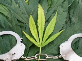 marihuana y esposas