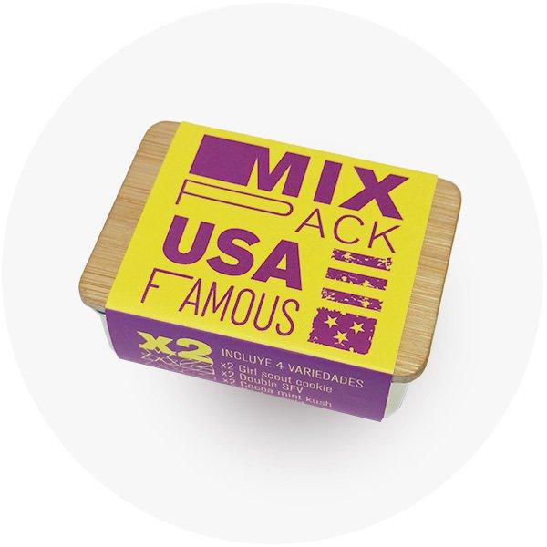 Caja Mix pack USA famous