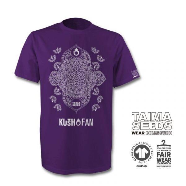 camiseta kush fan morada taima seeds