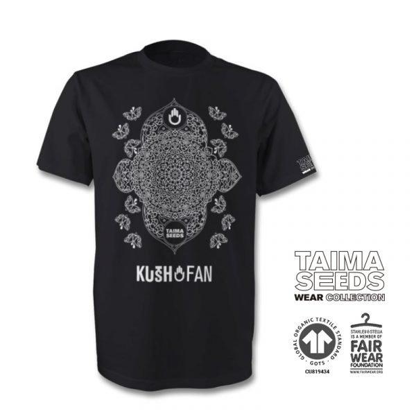 camiseta kush fan negra taima seeds