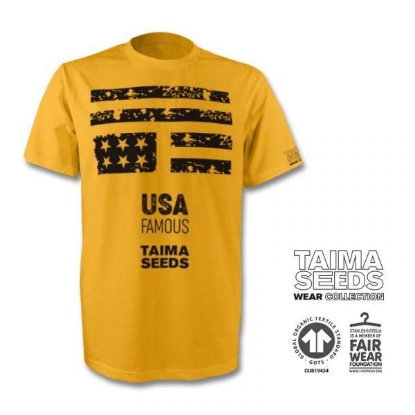 Camiseta U.S.A. Famous amarilla de taima seeds